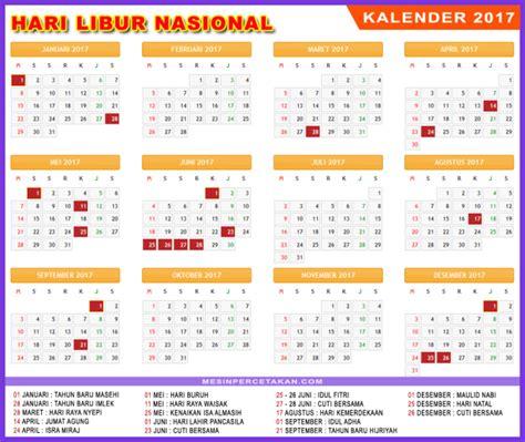 Kalender Libur Nasional 2017 2018 traveloista blog