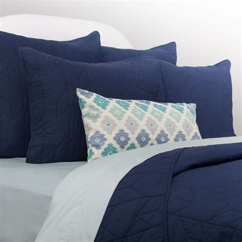 navy quilt bedding navy cotton quilt and sham chevron navy blue crane