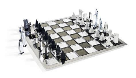 futuristic chess set swarovski chess set libeskind