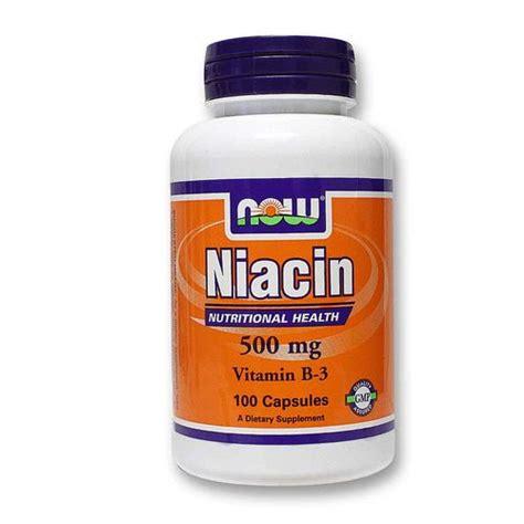 Niacin 500 Mg Detox by Now Foods Niacin 500 Mg 100 Caps Evitamins