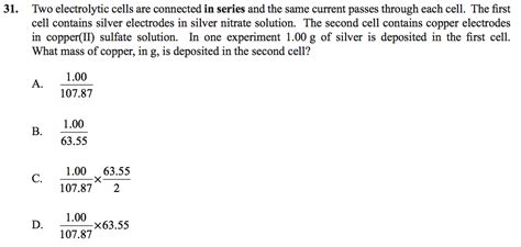 ib chemistry year 1 hl five multiple choice questions ib chemistry hl the