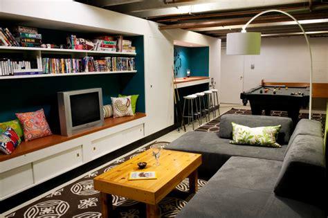 Basement Pool Room/Teen Hangout   Contemporary   Basement