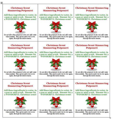 printable christmas potpourri tags inexpensive gift idea christmas scent simmering potpourri