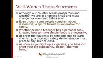 Is This A Good Thesis Statement Examples Of Thesis Statements Obfuscata