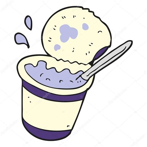 clipart yogurt cartoon illustration of yogurt stock vector