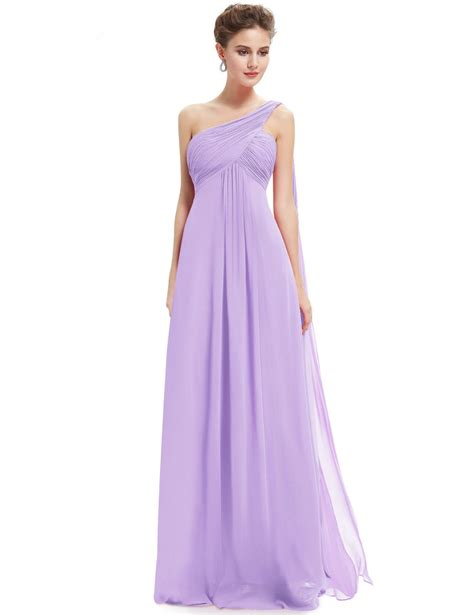 Longdresss Import 1 a line one shoulder ruffles padded bridesmaid dress