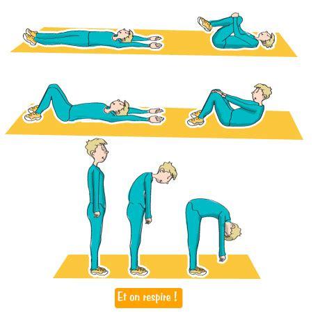 enroulement du dos et lombalgie
