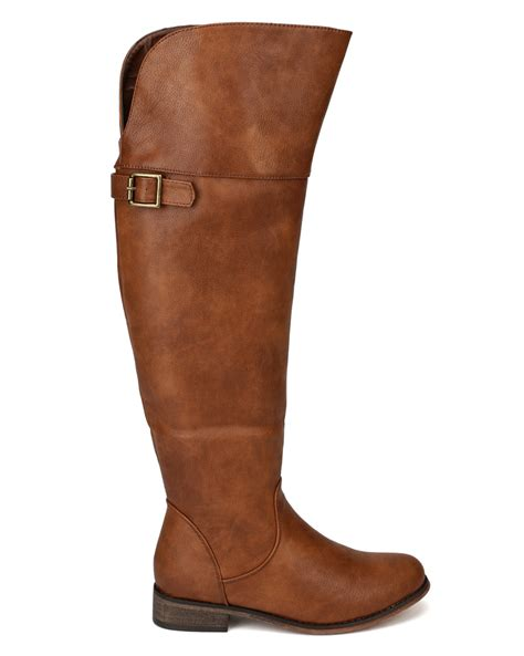 rider boots breckelles rider 24 new leatherette buckle toe