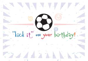 Soccer Birthday Card Sayings special cards