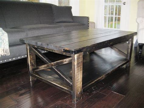 rustic x distressed handmade coffee table weathered