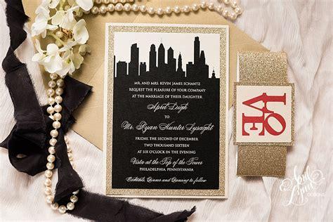 wedding invitations city philadelphia april s philadelphia themed wedding invitation