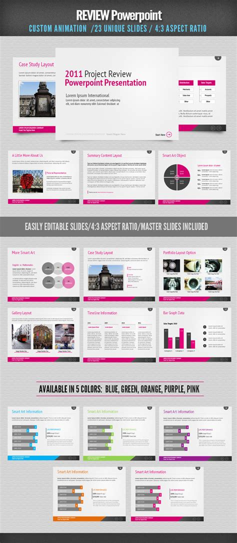 Review Powerpoint By Designdistrict Graphicriver Review Powerpoint Templates