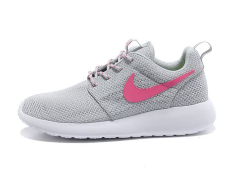 gray and pink nike running shoes nike roshe run womens shoe light gray pink 511882 003