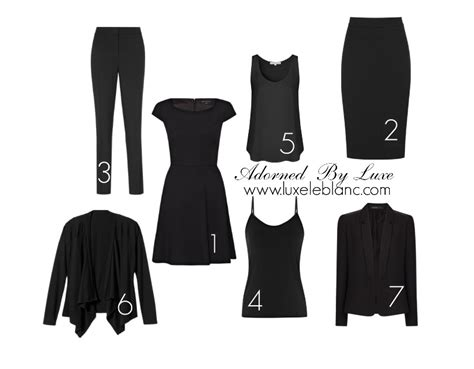 All Black Wardrobe by Glam Guide How To Build An All Black Wardrobe For Work