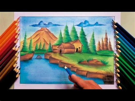 imagenes de paisajes que se puedan dibujar paisaje a colores con crayones trazo r 193 pido youtube