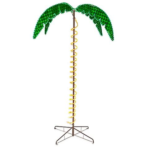 roman 7 foot ropelight palm tree bed bath beyond