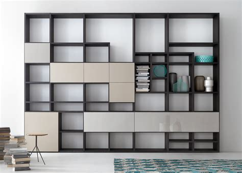 lema selecta 04 bookcase wall unit customisable
