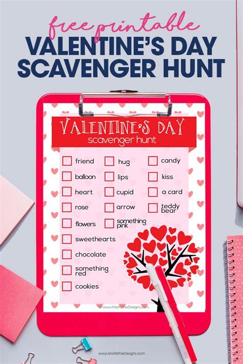 valentines day scavenger hunt clues s day scavenger hunt free printable