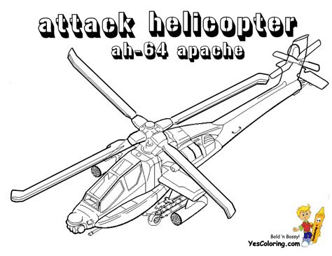 Apache Helicopter Coloring Page | apache colouring pages