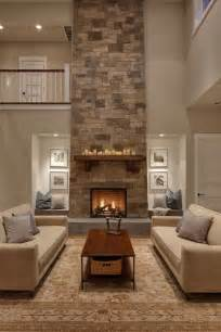 living room design with fireplace fireplace spacios living room cream sofa great stone