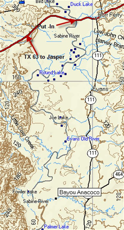 sabine river texas map ddrc river trip description