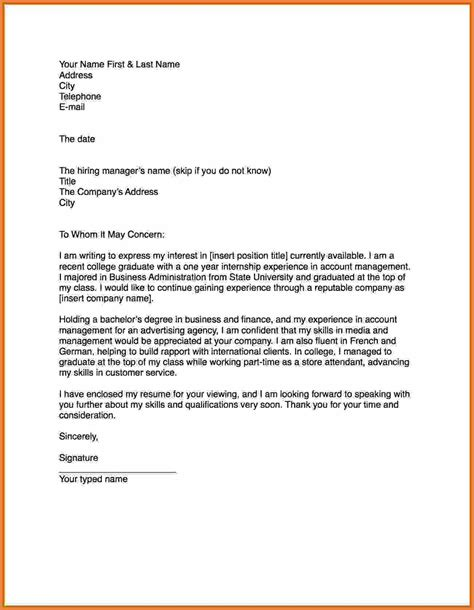 Cover Letter For Unspecified How To Write A Cover Letter Sop