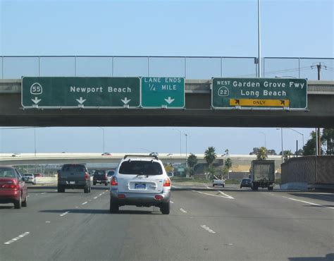 Garden Grove Freeway California Aaroads California 55 South