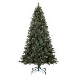 7ft prelit artificial christmas tree blue green balsam fir