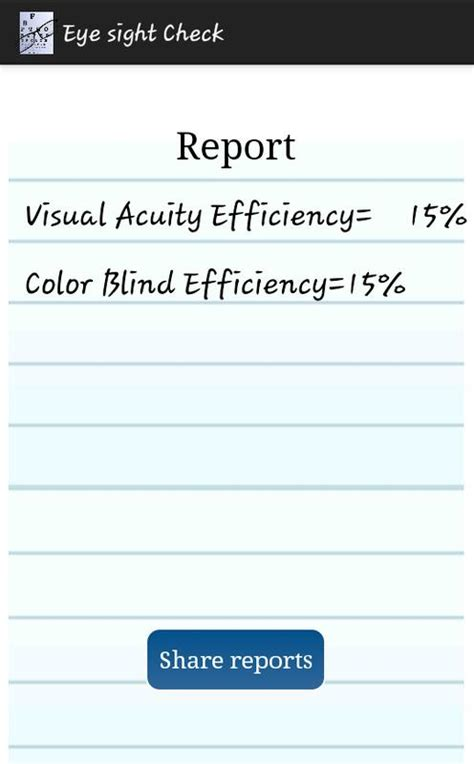 color acuity test eye visual acuity color test for android apk
