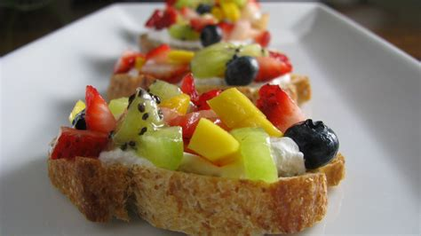 fruit appetizers fresh fruit bruschetta how sweet eats