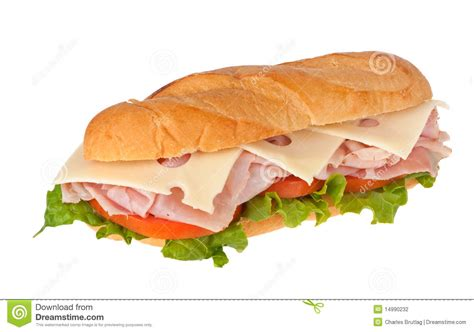 ham cheese sub sandwich ham and cheese sandwich stock photography image 14990232