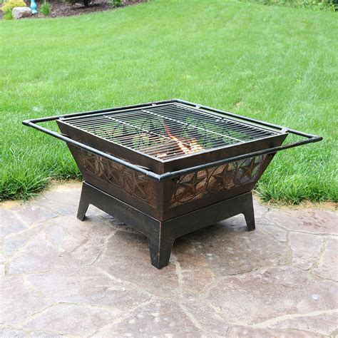 Outdoor Patio Pits by Northern Galaxy Square Pit 32in Wood Burning Outdoor