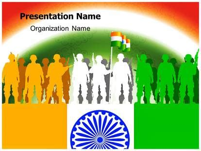 Indian Army Powerpoint Template Background India Powerpoint Template