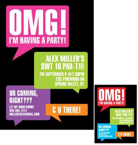 free text invitations birthday texting invitation