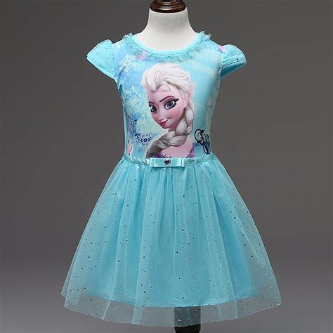 dress anak disney frozen size 6t blue jakartanotebook