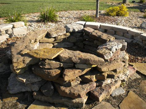 Yard Stone Fire Pits Outdoor Decorations Rock Firepit