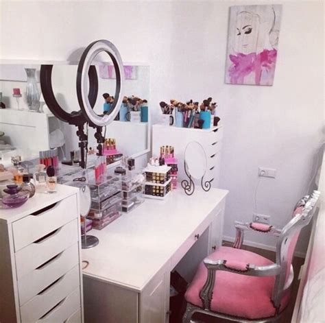 makeup area in bedroom cute makeup vanity image 2747382 by marky on favim com