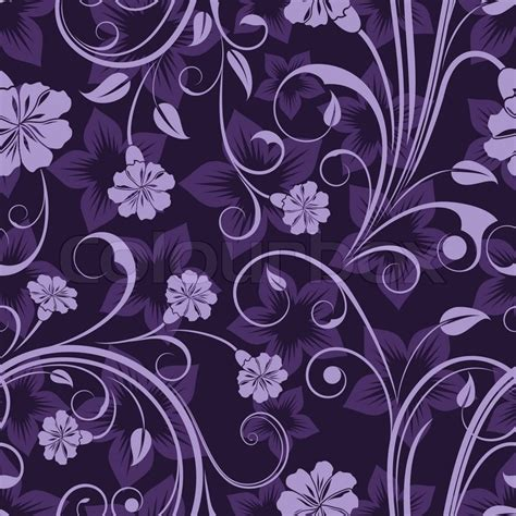 hd purple shadow florals seamless pattern background seamless floral lilla blomst vektor tapet m 248 nster
