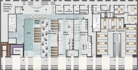 floor plan for spa day spa by amanda vicari at coroflot com