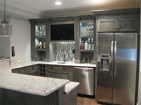 Kitchen Cabinet Wine Rack Ideas finished basement contemporary kitchen chicago