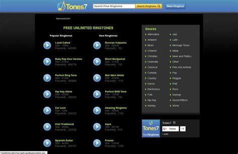 top  websites    ringtones  android