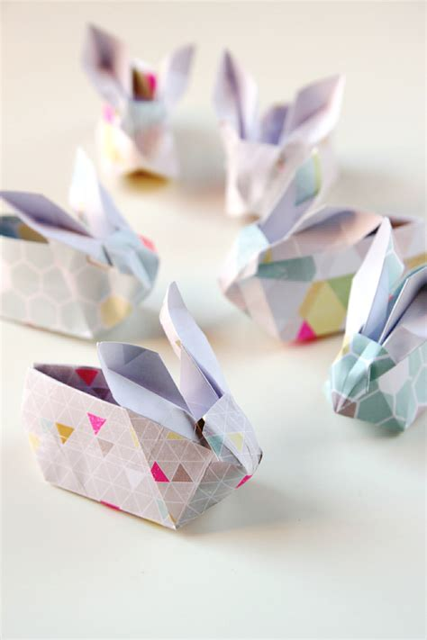 Origami Easter Bunny Basket - 22 easter diys to try at home the craftables