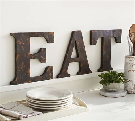 rustic metal letters pottery barn
