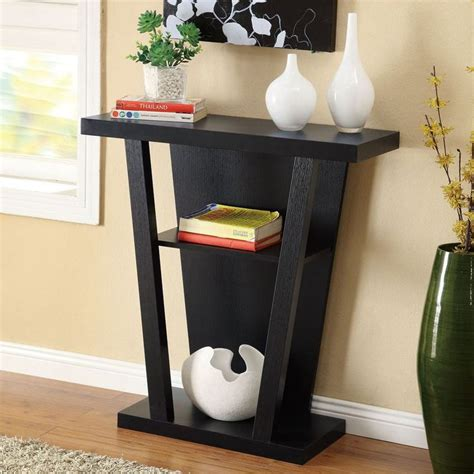 Black Entryway Table Black Finish Console Sofa Entry Table
