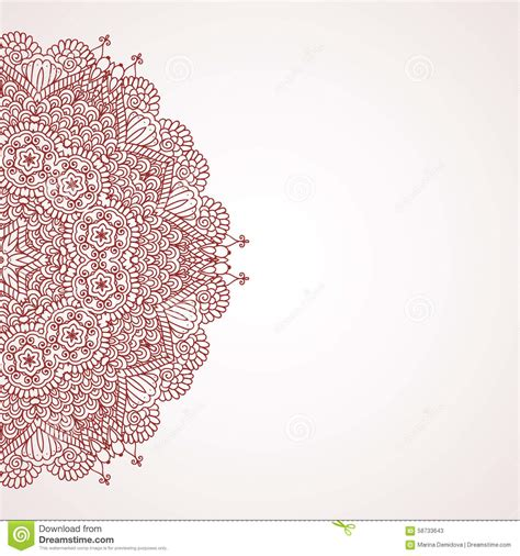 mehndi henna design background stock vector image 58733643