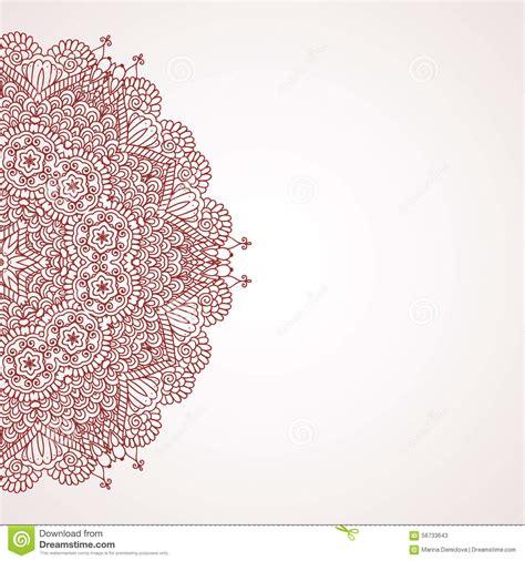 mehndi henna design background stock vector image 58733643