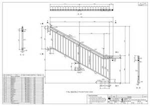 Stair Railing Detail drawtech services ltd project staircase and enclosure