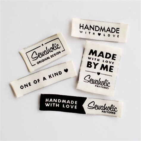 Quot One Of A Kind Handmade With Love Made By Me Sewaholic Original Design Quot Woven Clothing Labels Clothing Label Design Templates