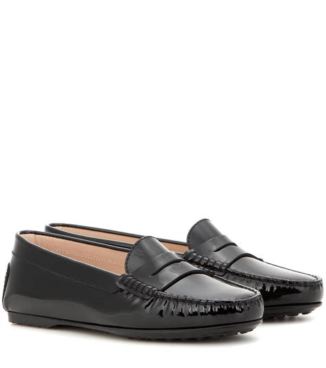 gommini loafers tod s gommini patent leather loafers in black lyst