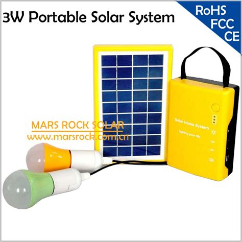 3w solar power system portable solar generator for